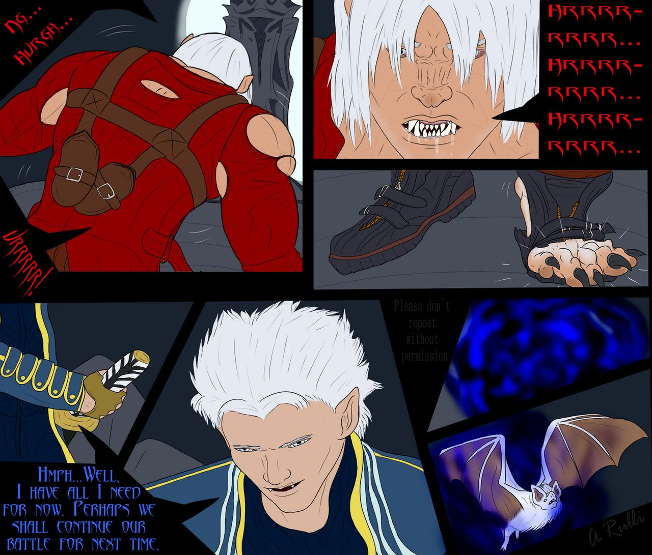 ($) Dante's Beastly Awakening Sequence (Warning: Blood) by Adaru32