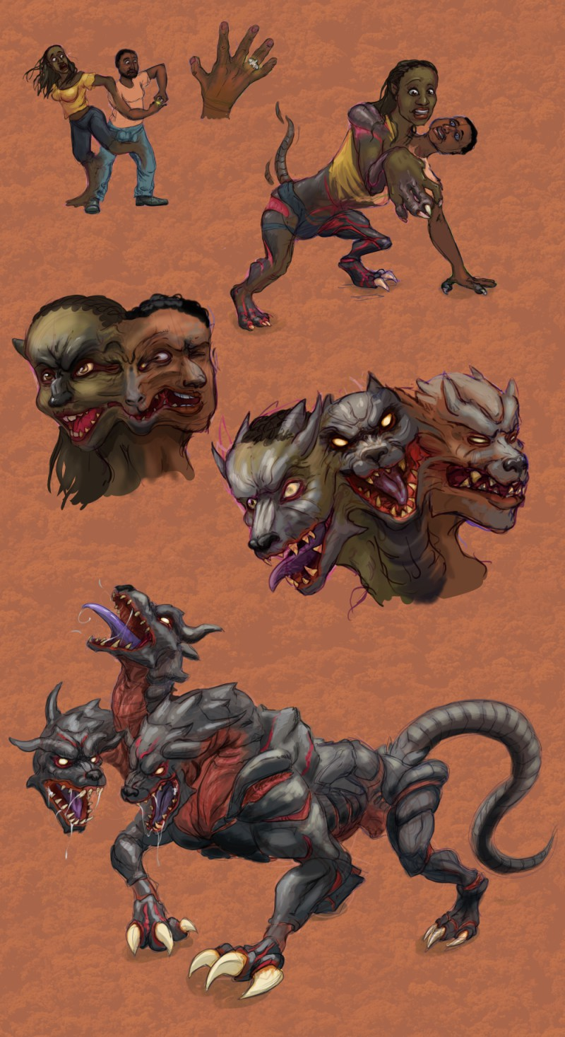 Doggone Cerberus - Comm. by Ametf