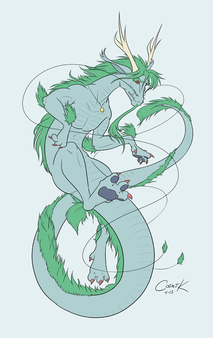 Sea Green Eastern Dragon by Cobalt_K