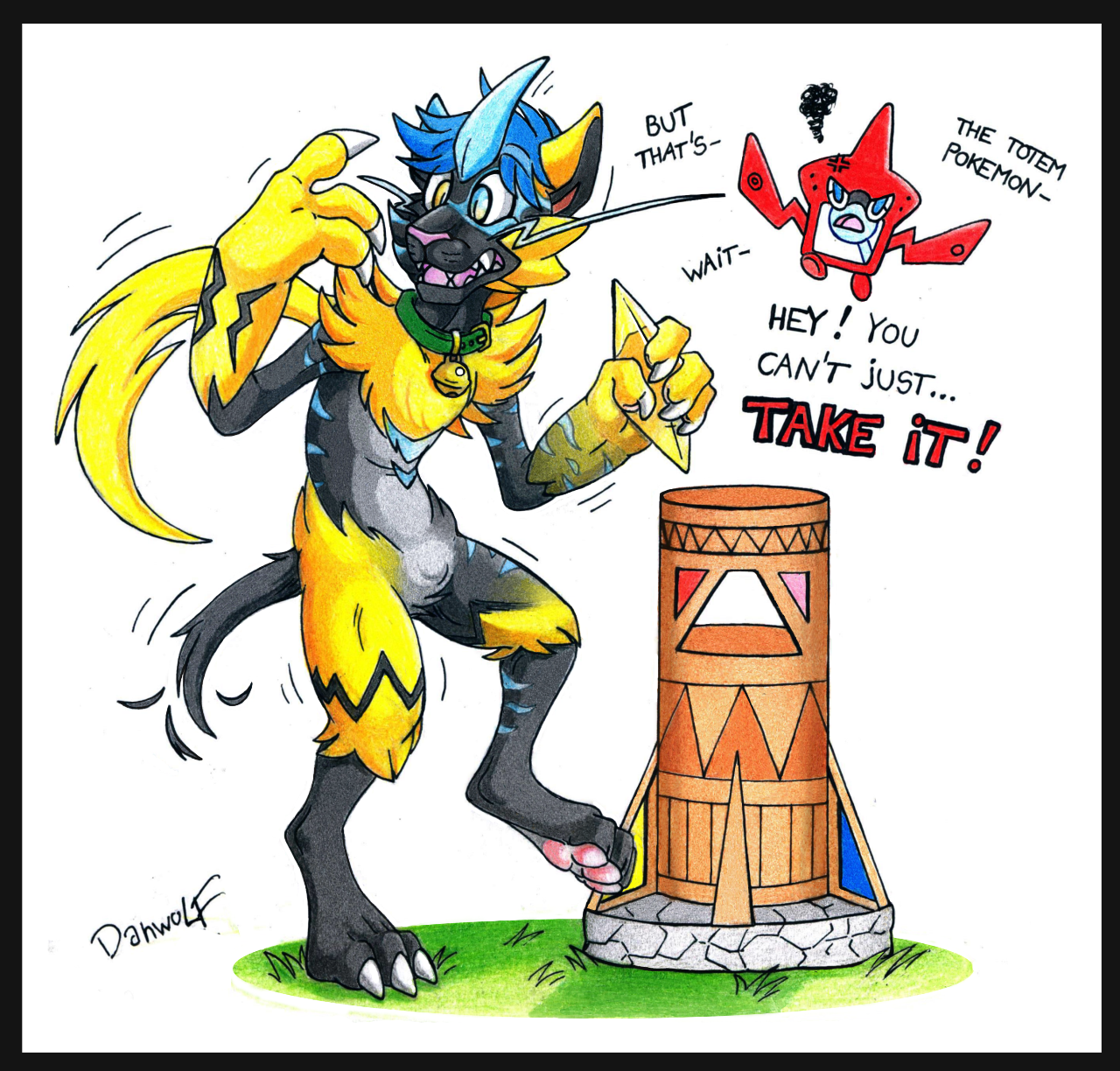 Curse of the Totem pokemon by Danwolf