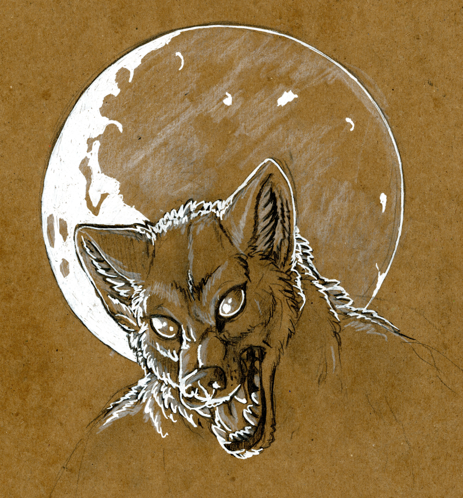 [Traditional]-Supermoon Werewolf by Fringedog