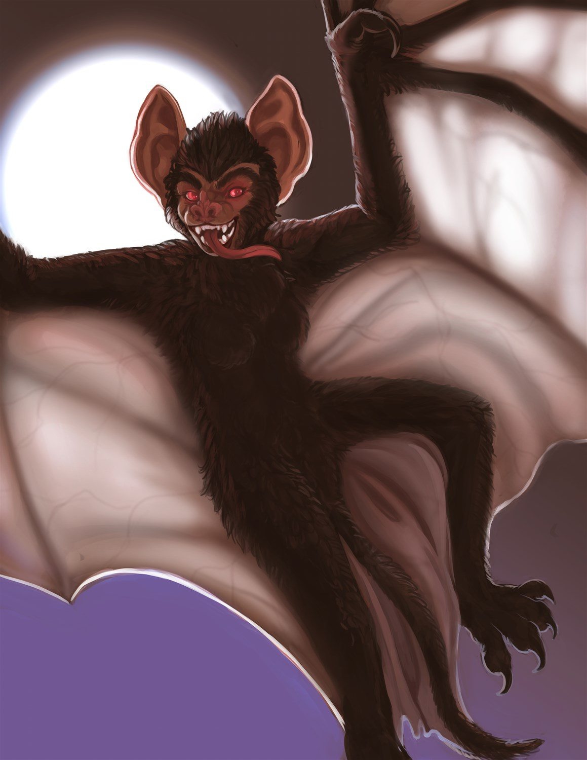 [Commission]-Werebat by Fringedog