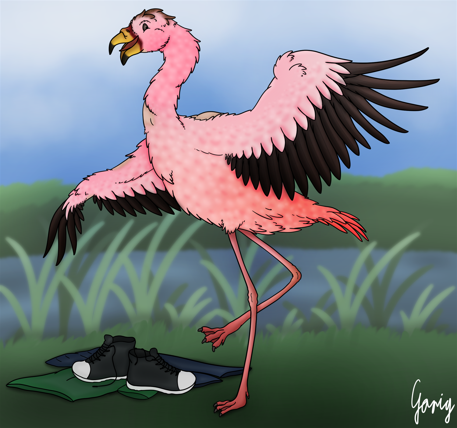 Flamingo Dance! by Garig1510