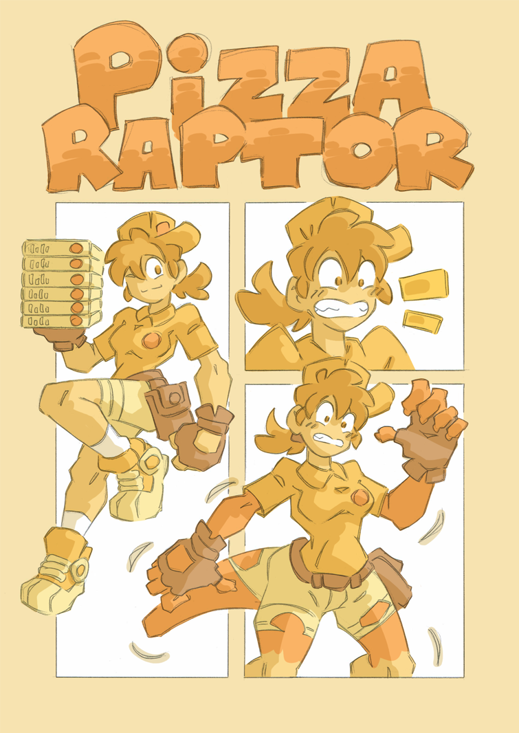 Pizza Raptor by Hukeng