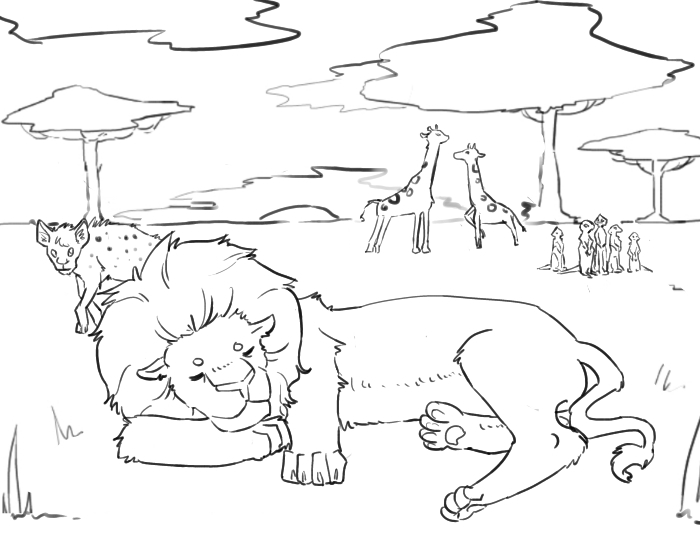 Meanwhile in a Serengeti park by Ichihara-chan