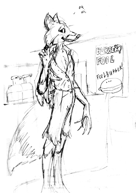 Ltf Number Fifty- Foolburger Fox by PickleJuice