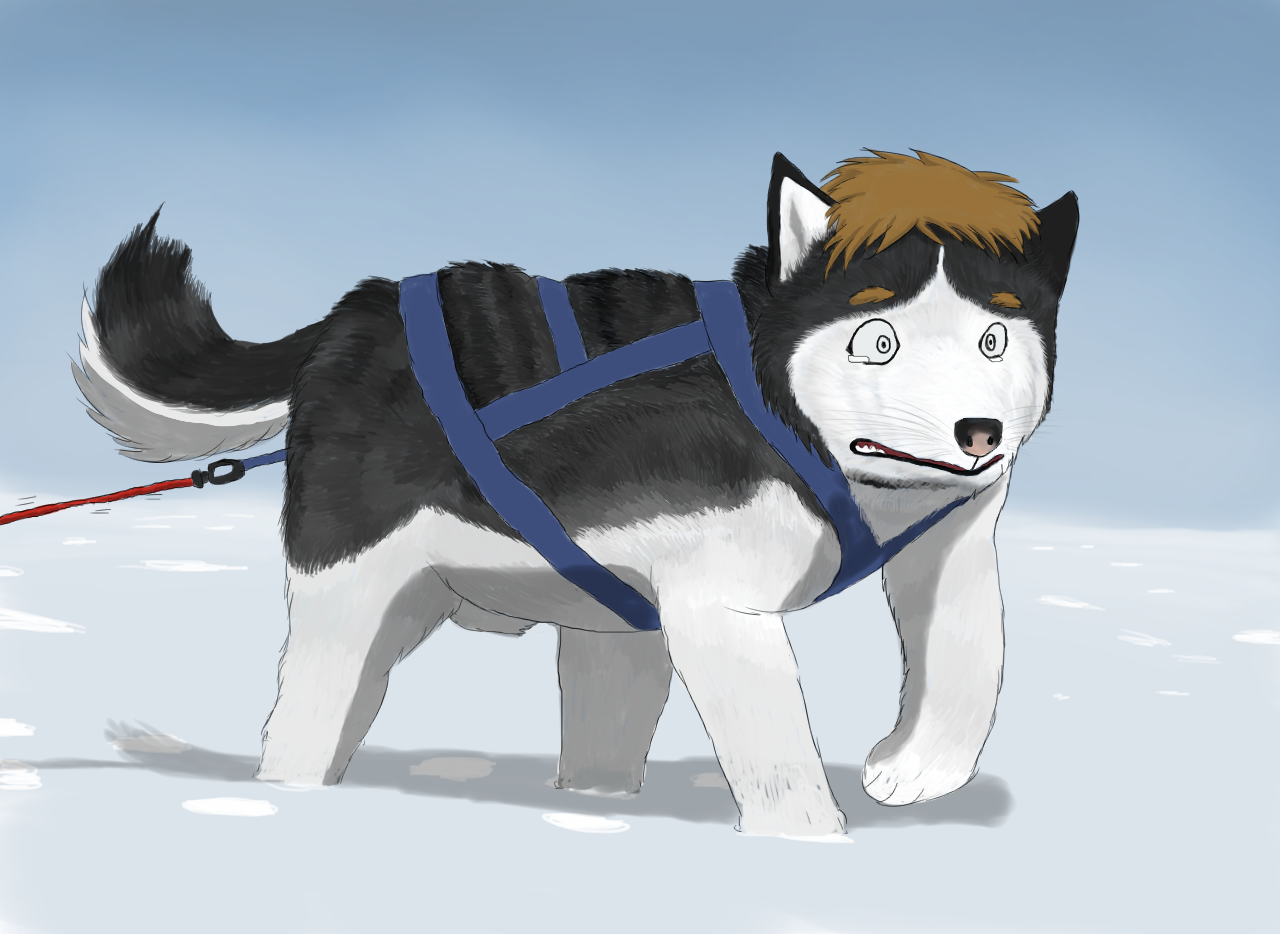 Sled Dog by Taitora
