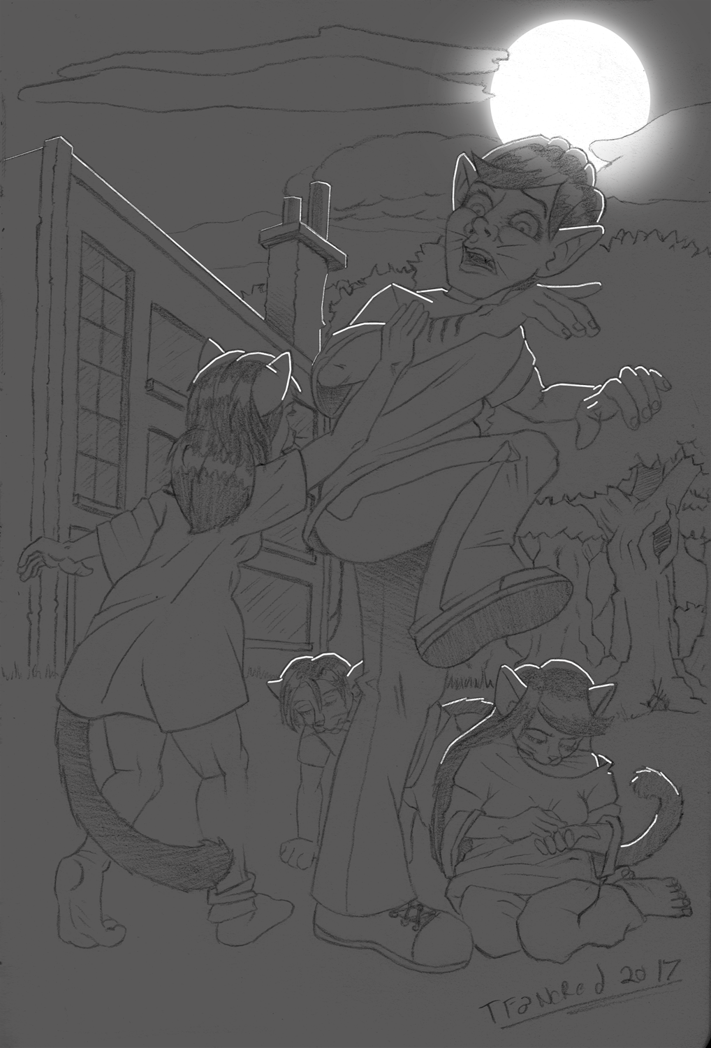 Patreon Sneak Peak - The Night of the Were Neko by tfancred