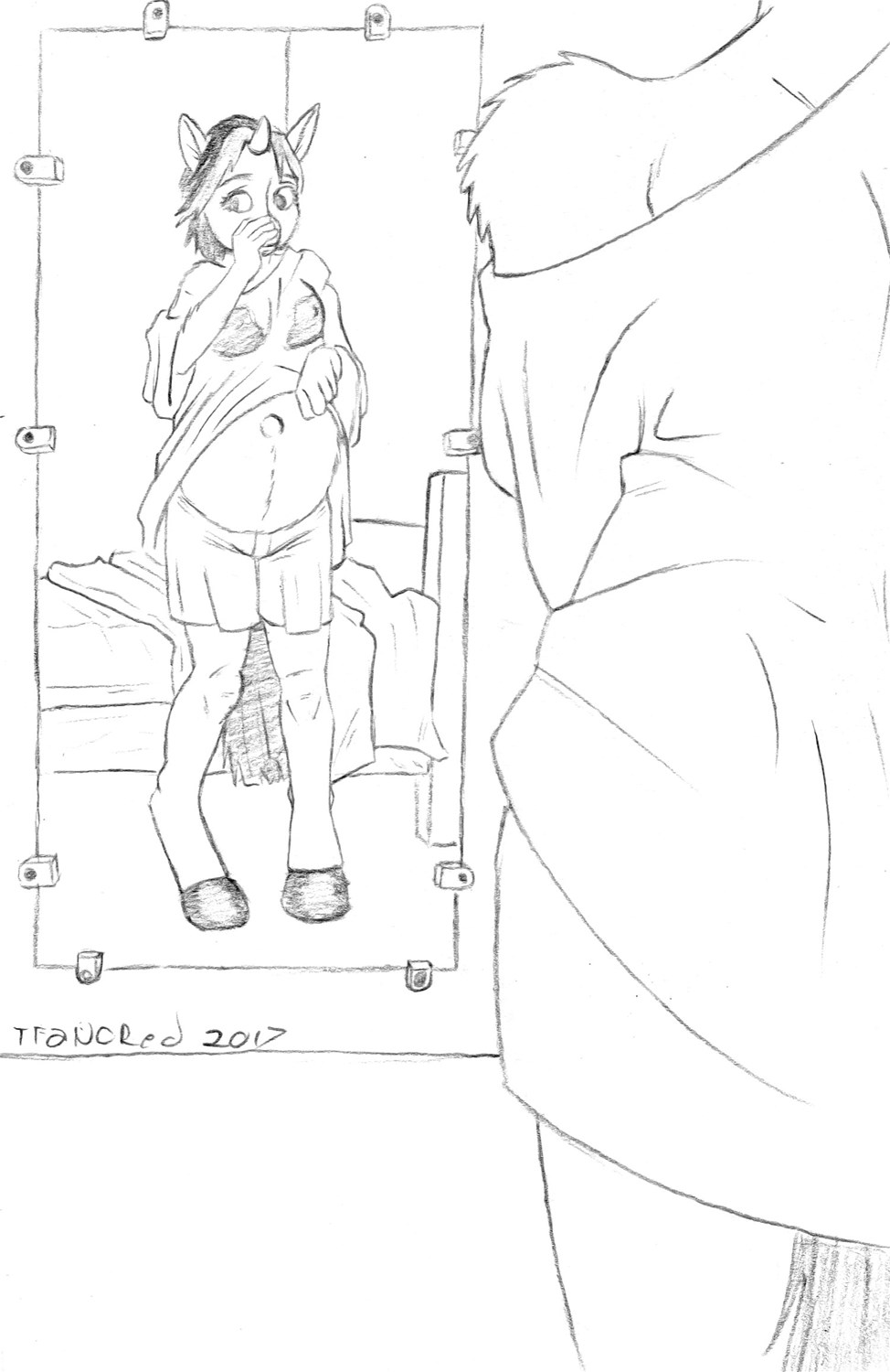 Patreon Sneak Peak - Pregnant Unicorn Tf Tg by tfancred