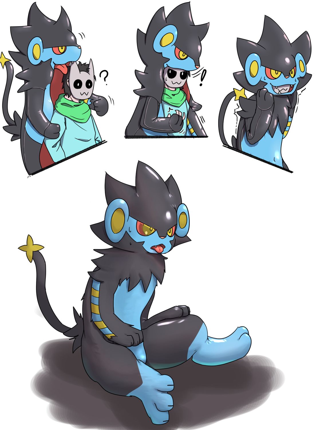 Luxray latex suit TF by Sa_no