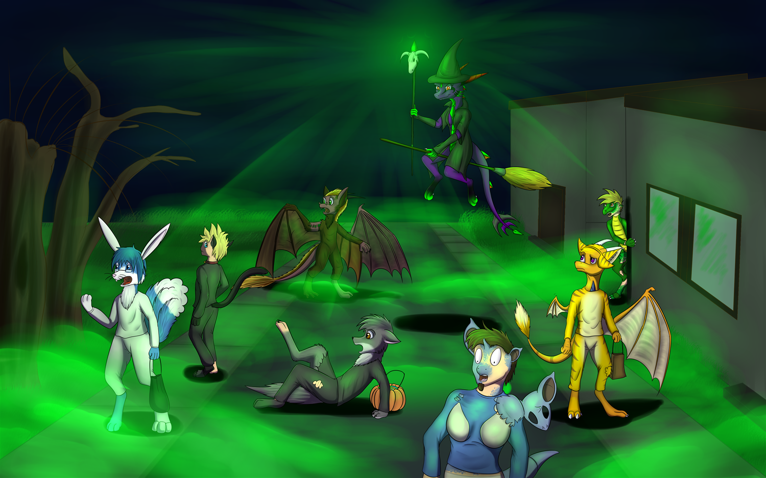 Hallowen Group Commision by Tomek1000