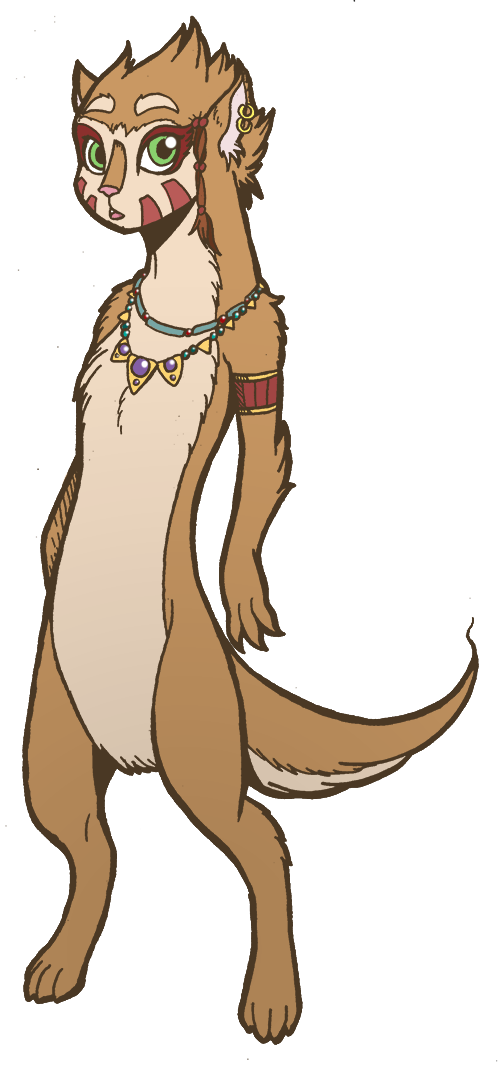 Tribal Weasel by wrenzephyr2