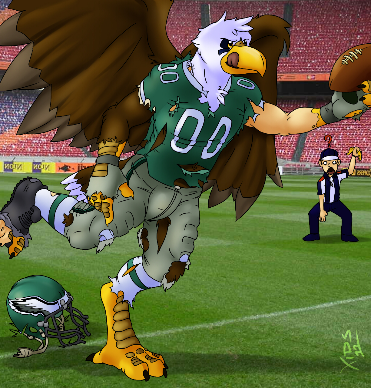 Ill-Eagle Receiver Down Field! by Xids