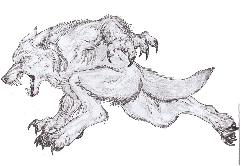 Картинки волка молний карандашом